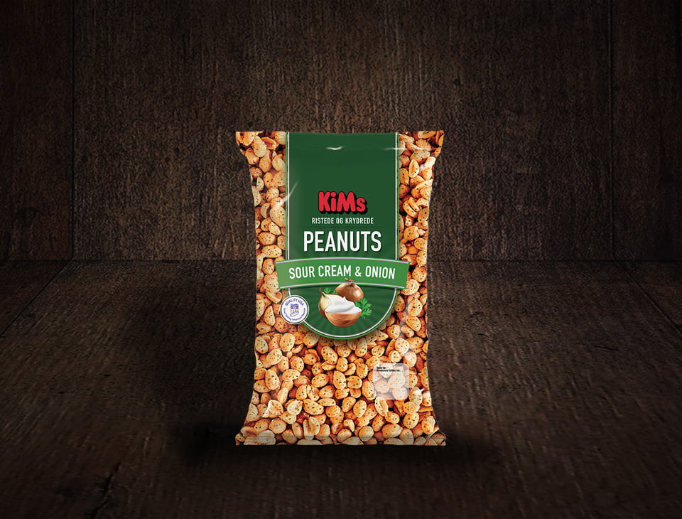 KiMs Peanuts Sour Cream & Onion 430g XL