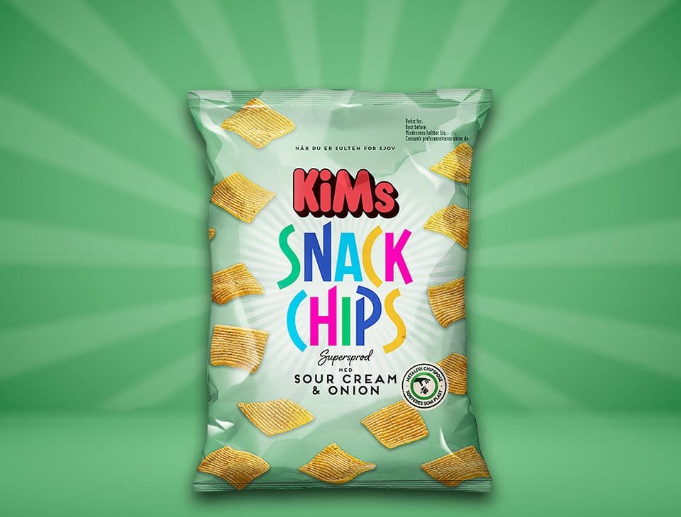 Snack Chips Sour Cream & Onion 160g